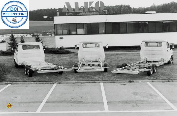 Fahrwerks-Spezialist Al-Ko bachte mit dem revolutionären amc-Chassis Fahrkomfort und Sicherheit in die frühe Caravaningbranche. (Foto: D.C.I.-Archiv / Al-Ko)