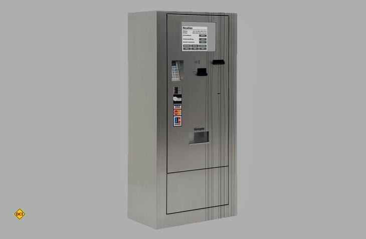Der Selbstbedienungs-Pionier Wanzl bietet jetzt einen einfach zu installierenden Kassenautomat für Reisemobil-Stellplätze an. (Foto: Wanzl)