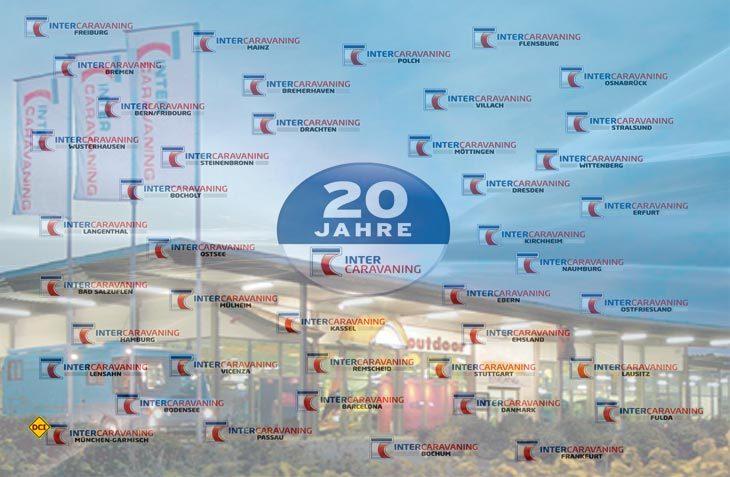 Der Händlerverband Intercaravaning feiert sein 20jähriges Jubiläum und hat heute 40 Mitglieder in ganz Europa. (Foto: Inercaravaning)