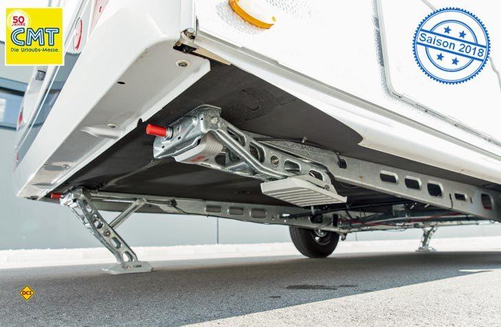 Mit dem Up4 bietet Al-Ko ein elektrisches Hubstützenmsystem für Wohnwagen an. (Foto: Al-Ko)