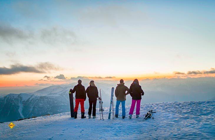 Nirgends in Frankreich kann man Wintersport mit Meerblick genießen - außer an der Côte d'Azur. ((Foto: © A.Buttin –CRT Côte d'Azur France))