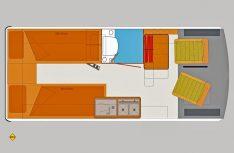 Der Grundriss des neuen Schwabenmobil Tango von HRZ. (Grafik: Werk)