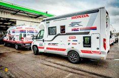 Laika begleitete das Honda Racing Team auf der Dakar 2018 mit teilintegrierten Ecovip 305. (Foto: Laika)