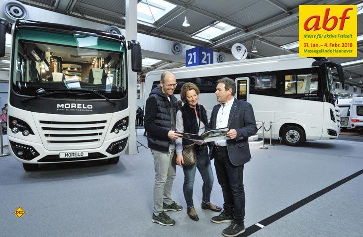 Auf dem Messegelände Hannover können sich die Besucher der abf 2018 von der Bandbreite der mobil Freizeit üerzeugen lassen. (Foto: Heckmann)