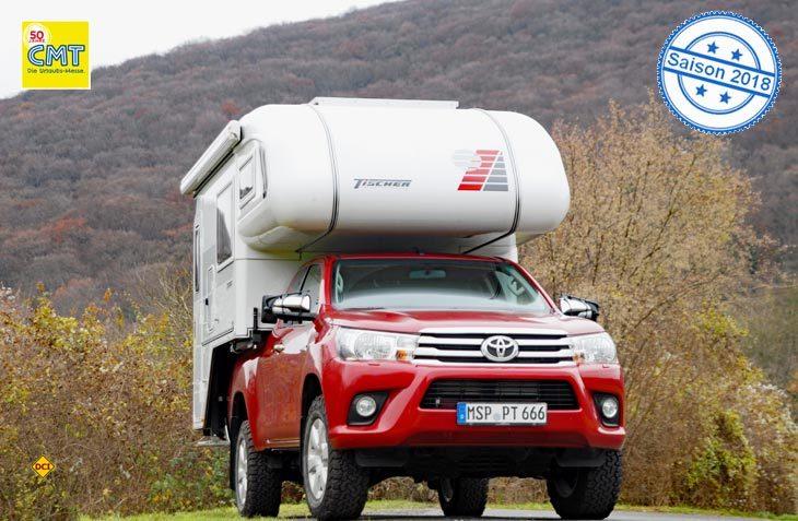 Mit dem Toyota Pick-Up Hilux kehrt ein alter Bekannter wieder in die Reisen der Tischer-Basisfahrzeuge zurück. (Foto: det)