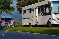 Die nahe Radwege, Nordic-Walking, Wanderwege oder Seen machen die Trentiner Campingplätze zu einer perfekten Lösung für einen sportlich aktiven, Familienurlaub. Hier Camping Dolomiti im Dimaro. (Foto: Camping Dolomiti)