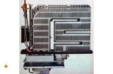Der Durchbruch für die Mobilheizungen: Der zweischalige Wärmetauscher aus Aluminium mit einem Wirkungsgrad von 98 Prozent. (Foto: Truma)