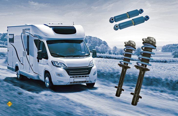 Mit dem Upgrade Kit sorgt VB Airsuspension für mehr Sicherheit beim Fahrverhalten von Reisemobilen. (Foto: VB)