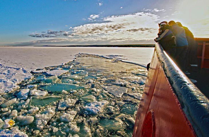 Spannende Reise mit dem Eisbrecher entlang der Ostseeküste Nordschwedens (Foto: swenature / visitsweden)