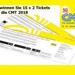 Gewinnen Sie 15 x 2 Eintrittskarten für die Urlaubsmesse CMT 2018