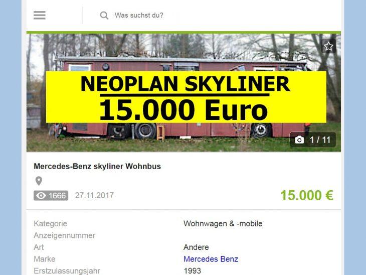 Was für ein Angebot! Passionierte Selbstausbauer juckt es dabei sicher in den Fingern. (Foto: screenshot / tom)