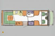 Der Grundriss des Concorde Carver 791 RL. (Grafik: Werk)