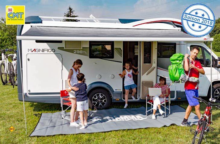 Mit der Kurbelmarkise F 45S hat italienische Zubehör-Spezialist Fiamma als einziger Anbieter eine interessante Zwischengröße für Camper Vans und kleine Reisemobile im Angebot. (Foto: Fiamma)