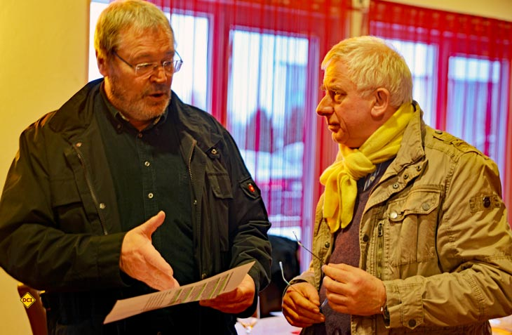 Dieter Goldschmitt (links) und sein Presse-Chef Peter Hirtschulz. (Foto: det)