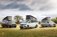 Familien-Treffen: Die Reise- und Freizeitmobile der Marco Polofamilie werden als Editions-Sondermodell auf der CMT zu sehen sein. (Foto: Mercedes-Benz Vans)
