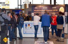 Der Wohnmobil-Knvoi 2018 und das D.C.I. sind auch auf der Messe Reise + Camping in Essen mit einem Stand vertreten. (Foto: hcb)