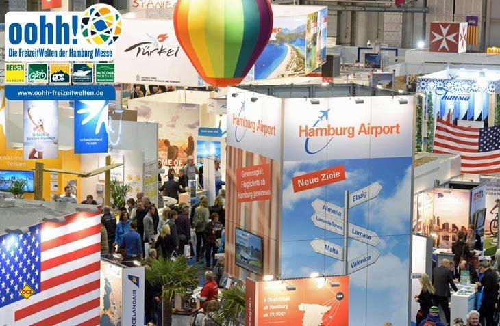 Die Freizeitmesse Reisen Hamburg 2018 bietet Infos über eine Vielzahl von attraktiven Reisezielen an. (Foto: Reisen Hamburg)