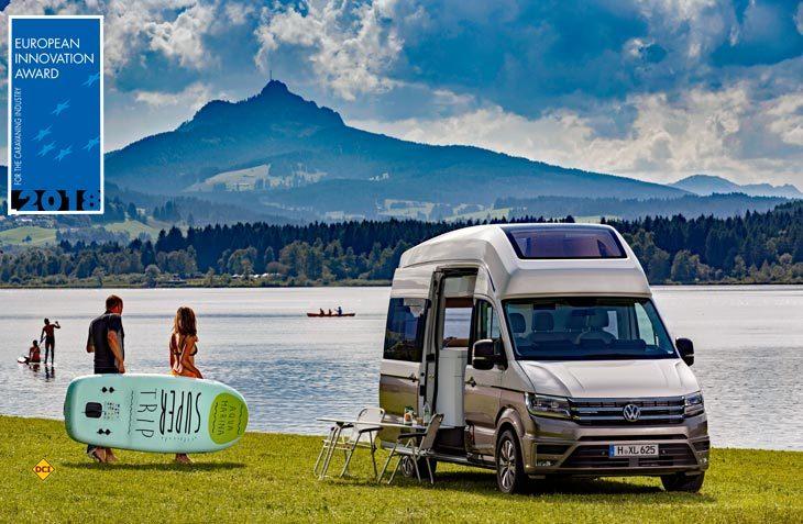 Noch eine Studie und schon mit Ruhm und Ehre bedacht: Die VW-Reisemobilstudie California XXL. (Foto: VWN)