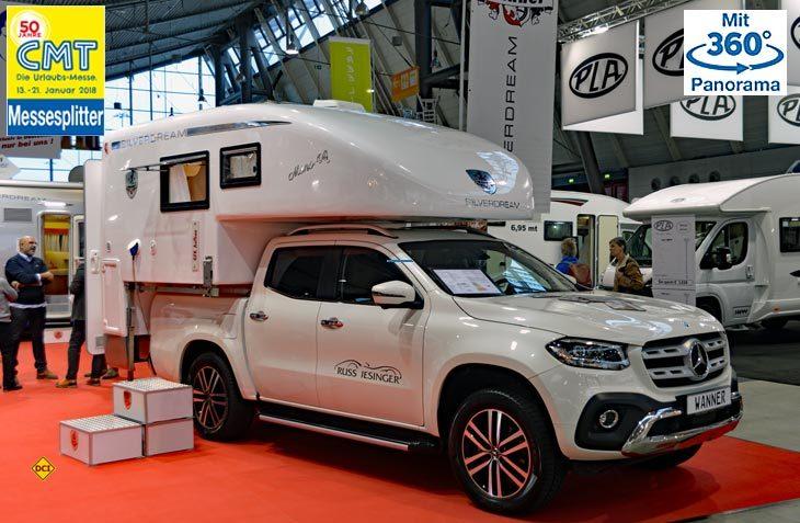Wanner Reisemobil zeigt mit dem Silverdream Mono 4 x 4 eine Monocoque-Absatzkabine für die neue X-Klasse von Mercedes-Benz. (Foto: det)