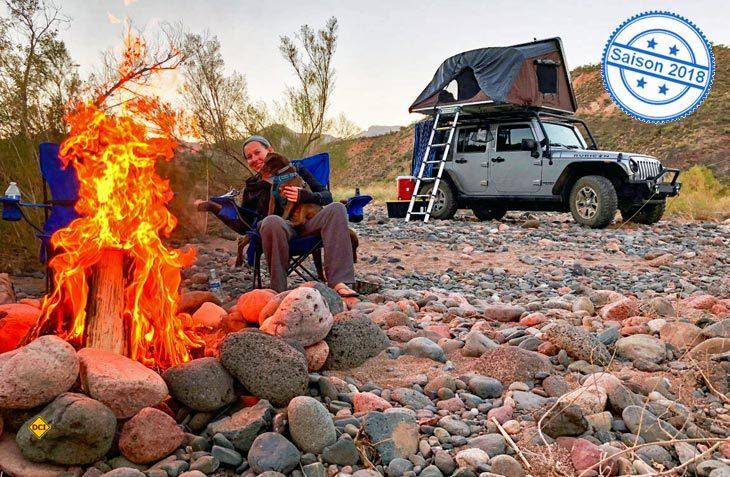 Mit dem iKamper Sky4x Dachzelt bietet Campwerk erstmals ein klappbares Hartschalen-Dachzelt für vier Personen an. (Foto: Campwerk)