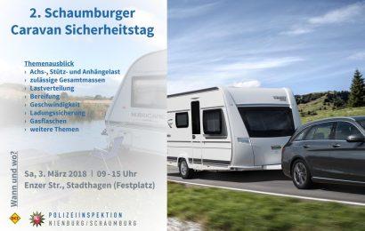 Am Samstag, 3. März 2018, lädt die Polizei zum 2. Schaumburger Caravan Sicherheitstag auf dem Festplatz der Kreisstadt Nienburg ein. (Foto: Polizei Nienburg)