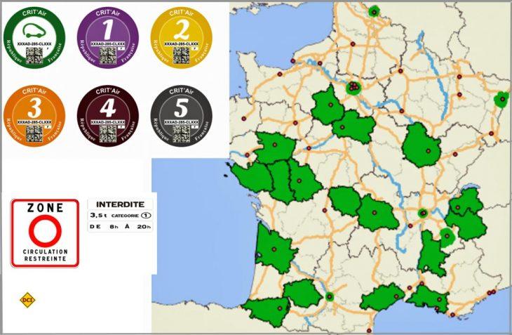 In Frankreich drohen jetzt auch flächendeckende Fahrverbote für Dieselfahrzeuge. (Montage: det/Crit air)