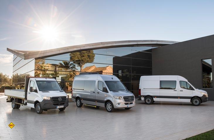 Mit voller Variantenvielfalt geht der neue Sprinter von Mercedes-Benz an den Start. (Foto: Werk)