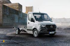 Der Frontantrieb macht´s möglich: Mercedes-Benz will mit dem neuen Triebkopf besonders im Reisemobilbereich Aufbaufahrzeug stark angreifen. (Foto: Werk)
