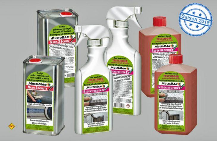 MultiMan Reinigungsprodukte mit Facelift: Mehr Infos auf der Verpackung – ganz kompakt in Text und Bild. (Foto: Multiman)