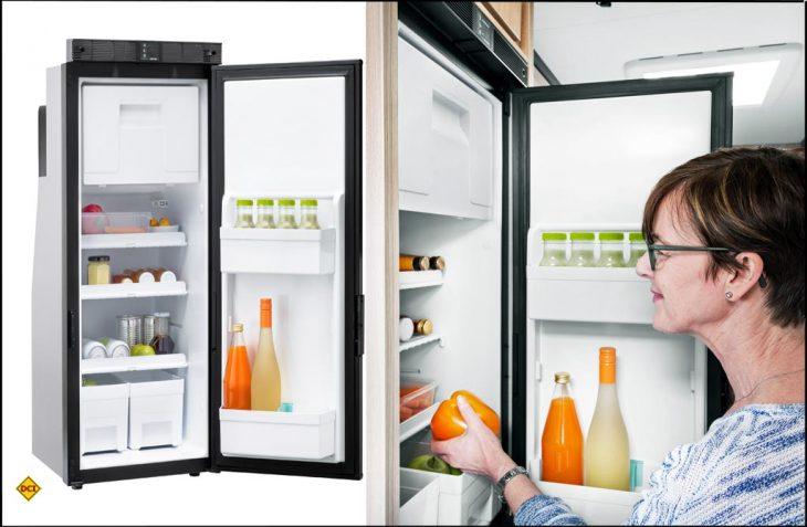 Thetford bringt die zweite Generation des 90-Liter fassenden Kompressor-Kühlschrank T1090 für Reisemobile auf den Markt. (Foto: Thetford)