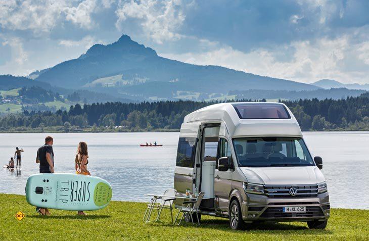 """Die bemerkenswerte Studie California XXL von Volkswagen ist ein Highlight auf der Reisemesse """"oohh! FreizeitWelten"""". (Foto: Volkswagen Nutzfahrzeuge)"""