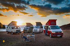 30 Jahre VW California - vier Generation Transporter sind die Basis für das VW Erfolgsmodell. (Foto: Werk)