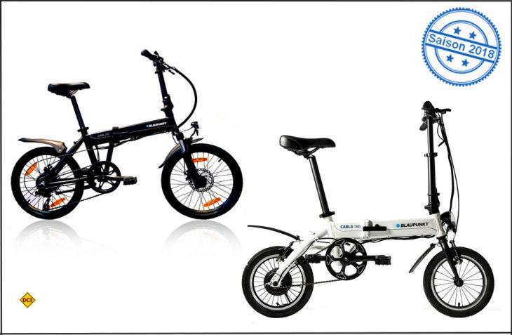 Carla und Carl heißen die beiden neuen Alu-Falt-E-Bikes von Blaupunkt. (Foto: Blaupunkt)