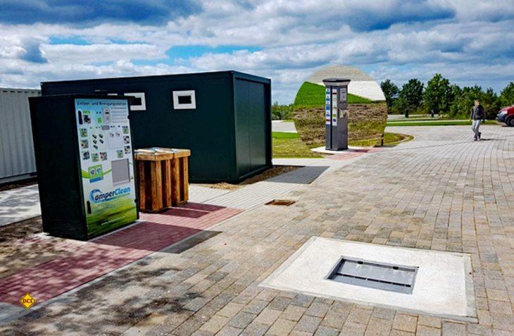 CamperClean baut sein Netz an Reinigungsstationen europaweit aus. Jetzt sind 12 neue vollautomatische Reinigungsstationen für Toiletten-Cassetten in Schweden im Einsatz. (Foto: CamperClean)