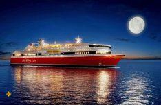 Kreuzfahrtfeeling, wie man es aus Fernsehfolgen kennt, kann man auch auf modernen Fährschiffen genießen. (Foto: Fjordline)