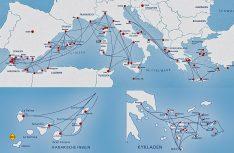 Die Fährlinien im Süden von Europa: Ein dichtes Streckennetz bis nach Afrika. (Grafik: VFF)
