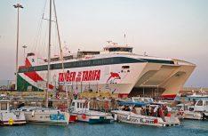 In 35 Minuten über die Straße von Gibraltar fährt die Flensburger Förde Reederei Seetouristik mit dem Schnell-Katamaran Tanger Jet II. (Foto: Seetouristik)