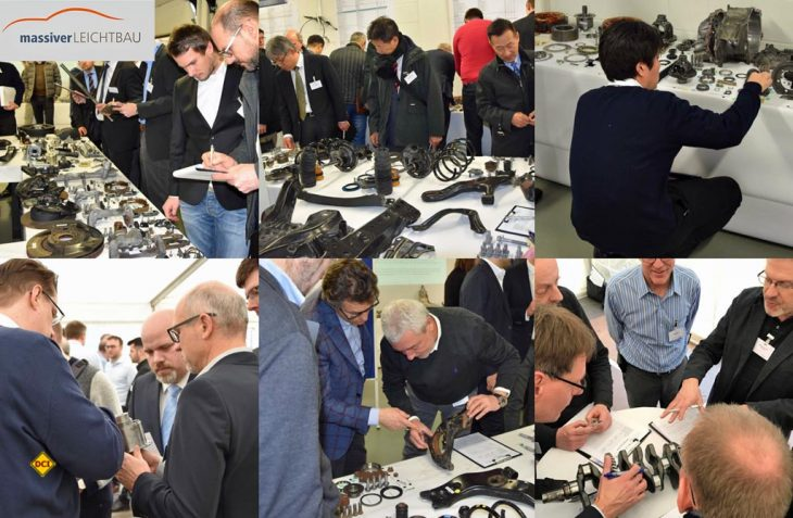 80 Experten aus USA, Japan und Europa aus Stahl-Herstellung und Massivumformung erarbeiten Leichtbau-Potenziale an Hybridfahrzeug und Lkw-Antriebsstrang. (Foto: Hirschvogel)