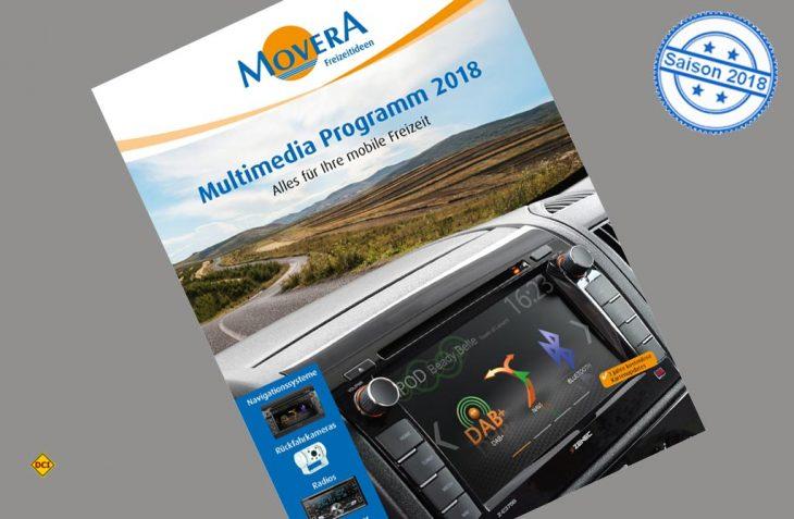Im neuen Multimedia Katalog 2018 hat Movera das gesamte Angebot zu Multimedia und Navigation kompakt zusammengefasst. (Foto: Movera)