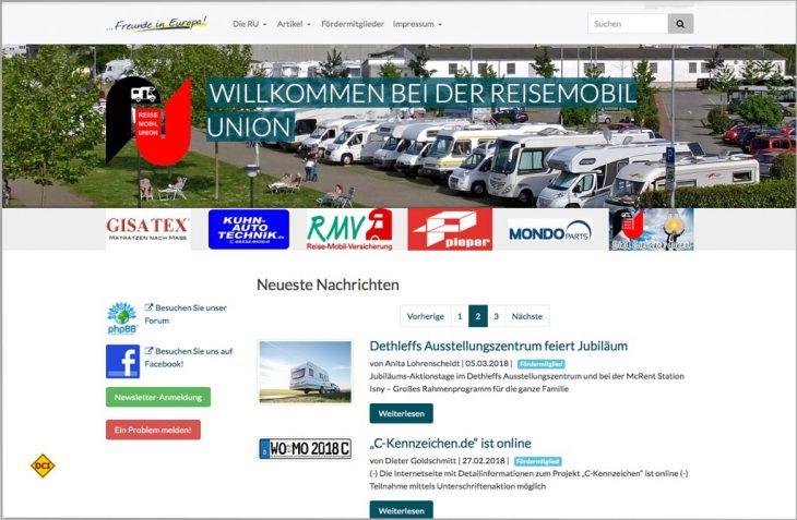 """Die Reisemobil Union als Dachverband der Reisemobilfahrer unterstützt die """"Initiative C-Kennzeichen"""". (Foto: RU)"""