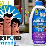 Thetford Friends testen Sanitärflüssigkeit Aqua Kem Blue