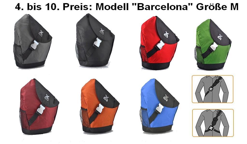 """Das Modell """"Barcelona"""" von X-Over: Sportiv und aktiv! Zum Einsatz kommen hochwertigste Materialien wie z.B. das Nylon Oxford Polyester 420D velocity mit zweifacher PU Beschichtung. (Foto: Werk)"""
