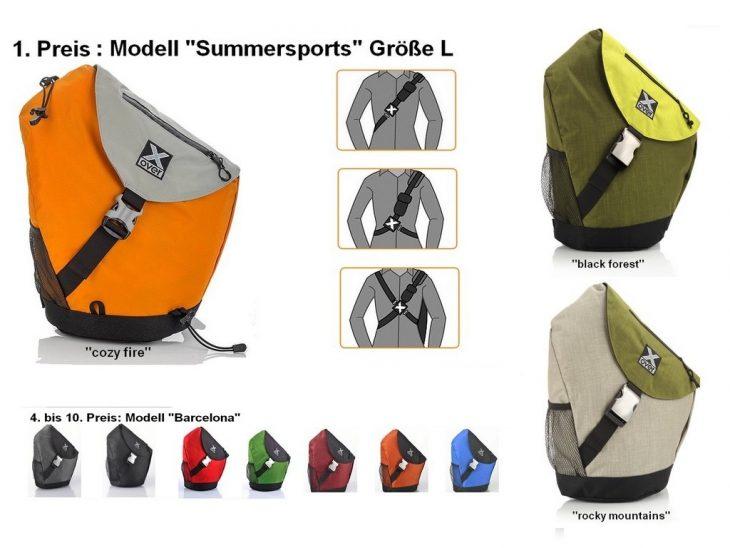 Gewinnen Sie einen von zehn Crosspacks exklusiv von X-Over. Sportlich, aktiv und im frischen Design. (Foto: Werk)