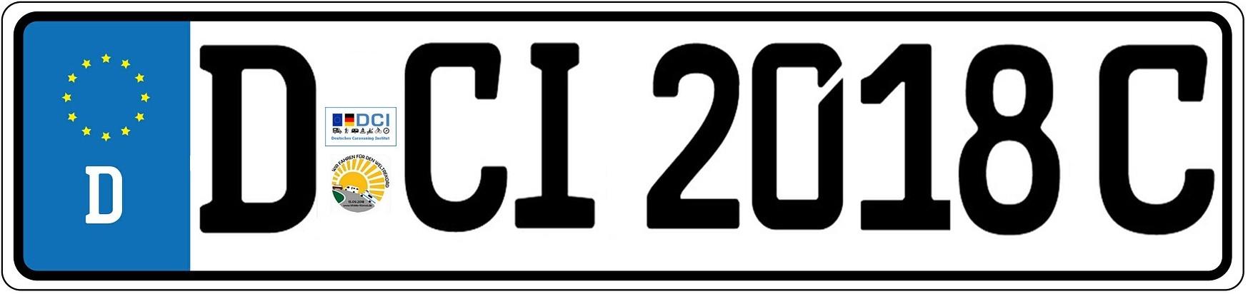 """So könnte das neue """"C-Kennzeichen"""" für private Reisemobile aussehen. (Montage: tom)"""
