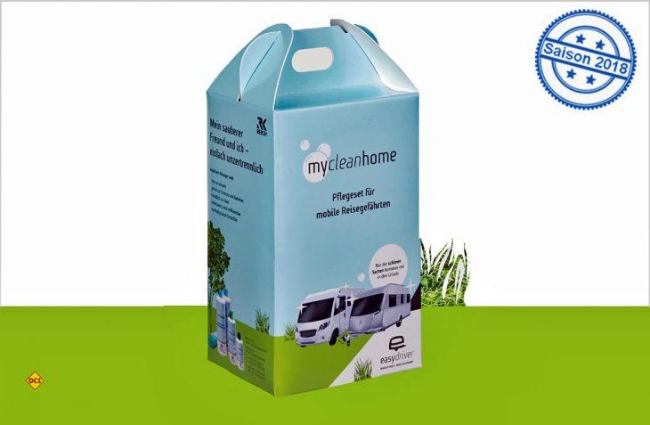 Sorgt kompakt für Sauberkeit bei allen Freizeitfahrzeugen: Das Pflege-Set Easydriver Mycleanhome. (Foto: Reich)