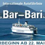 """Autofähre """"Dubrovnik"""" verbindet Montenegro wieder mit Italien"""