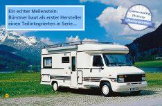 Der französische Markt forderte zu erst handliche und flache Reisemobile: Bürstner baute im Zweigwerk Wissembourg auf Citroën-Basis die ersten Teilintegrierten, die dann auch in Deutschland auf dem Fiat Ducato Premiere hatten. (Foto: Bürstner)