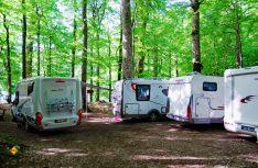Traumhafter Wohnmobil-Stellplatz im Naturpark Dormitor. (Foto: det)