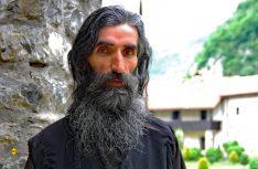 Orthodoxer Mönch aus dem Kloster Manastir Moraca. (Foto: det)