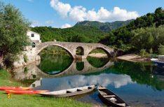 Die mittelalterliche Brücke vonRijeka Crnojevica. (Foto. det)